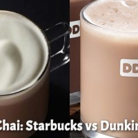 Vanilla Chai: Starbucks vs. Dunkin Donuts
