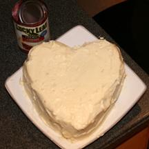 Lucky Leaf Heart Cake