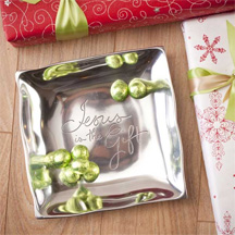 Jesus is the Gift Metal Tray