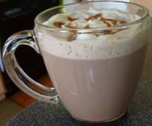 """Just Like Starbucks"" Salted Caramel Hot Chocolate Recipe"