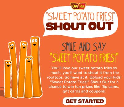 Ore-Ida Sweet Potato Fry Shout Out Sweepstakes