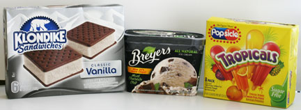 Breyers, Klondike, Popsicle