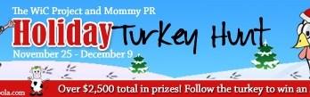 Holiday Turkey Hunt Blog Event!