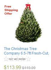 The Christmas Tree Company 6.5-7ft Fresh-Cut,
