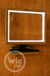 Deluxe LED Fogless Shower Mirror with Squeegee by ToiletTree Products