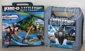 Hasbro Classic Battleship Movie Edition Game and KRE-O Battleship Combat Chopper Set