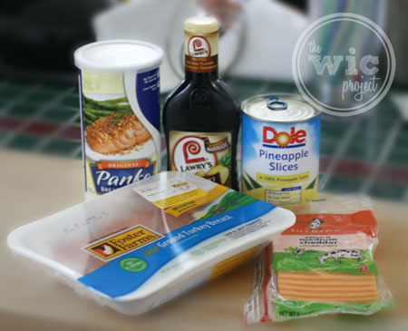 Teriyaki Turkey Burger Ingredients