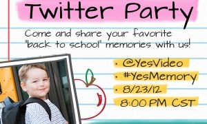 Join us for the #YesMemory Twitter Party on 8/23, 8-9PM CST