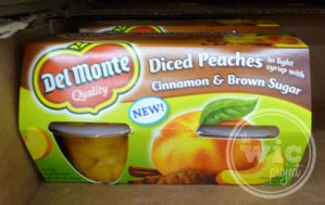 Del Monte Diced Peaches with Cinnamon & Brown Sugar