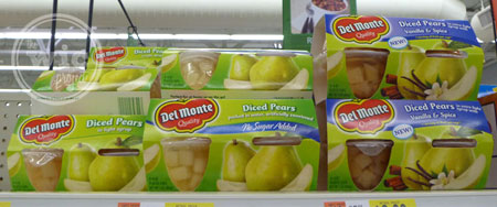 Del Monte Pear Fruit Cups