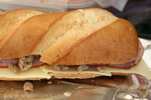 Canadian Bacon and Sausage Stuffed French Bread