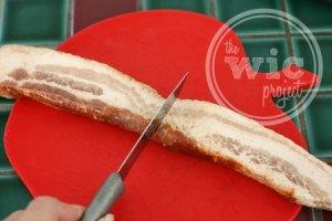 Cut Bacon in Half