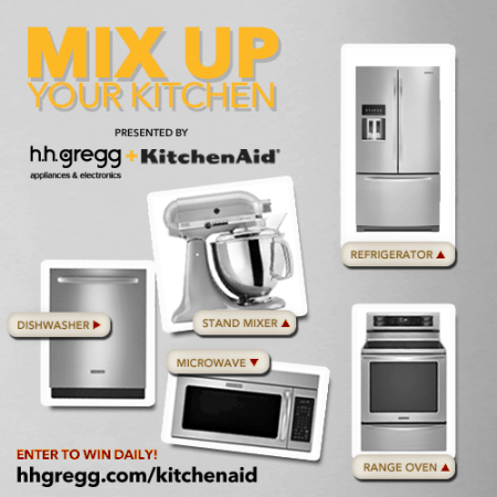 """Mix Up Your Kitchen"" Sweepstakes Presented by h.h. gregg and KitchenAid"