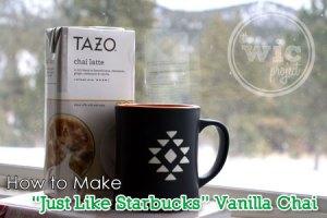 How to Make Starbucks Vanilla Chai Tea Latte
