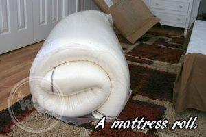 Nature's Sleep Mattress Rolled Up