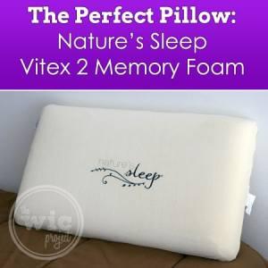 The Perfect Pillow: Nature's Sleep Vitex 2 Memory Foam Pillow