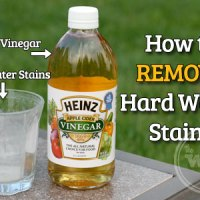 Removing Hard Water Stains with Heinz Apple Cider Vinegar
