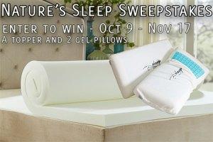 Nature's Sleep Topper & Pillows Sweepstakes