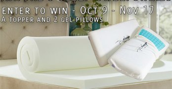 Win a Nature's Sleep Topper & Memory Foam Pillows