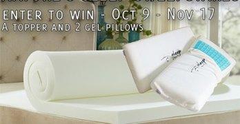 Win a Nature's Sleep Topper & Memory Foam Pillows