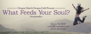 """Oregon Chai """"What Feeds Your Soul"""" Giveaway"""