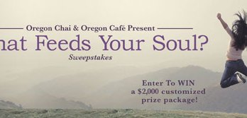 Win $2,000 in the Oregon Chai What Feeds Your Soul Sweepstakes