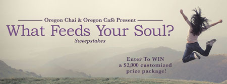 "Oregon Chai ""What Feeds Your Soul"" Giveaway"