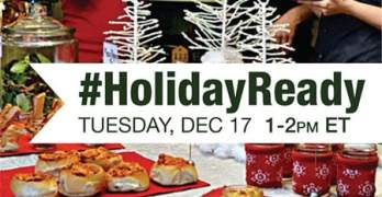 Save the Date: #HolidayReady Twitter Party – 12/17, 1-2PM EST – $500 in Prizes! RSVP Now!