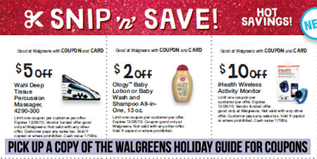 Walgreens Happy & Healthy Holiday Guide Coupons #shop