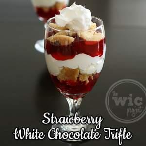 Strawberry White Chocolate Trifle