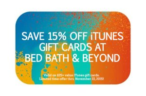 15% Off iTunes Gift Card