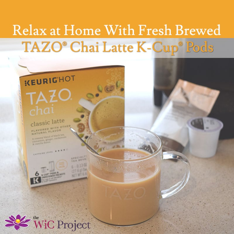 Relax at Home with TAZO Chai Tea Latte K-Cups