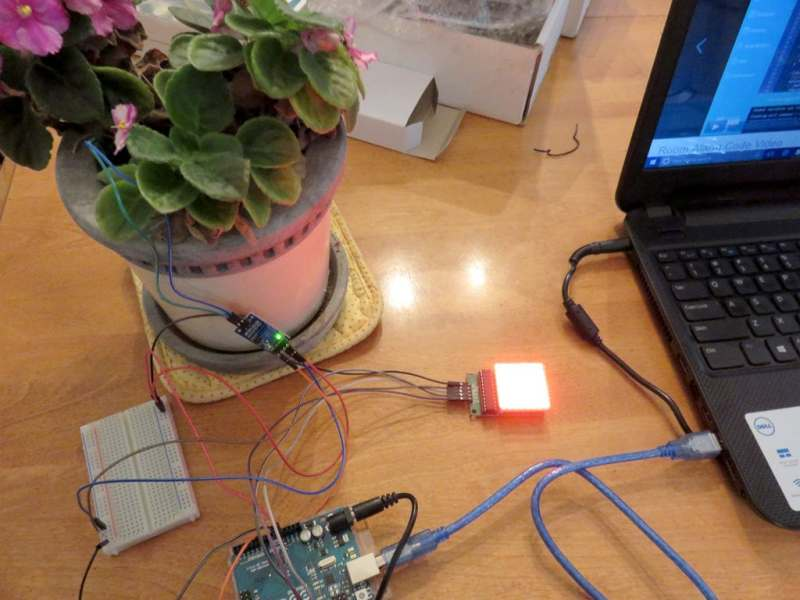 MakeCrate Soil Moisture Monitor