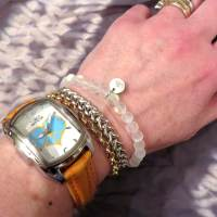 NOGU Mermaid Glass Bead Bracelets Glow and Reflect Light