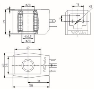 Low Power Solenoid Coil, Continuous duty coil