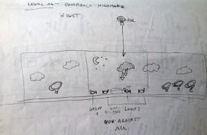 Level Sketch: Conspiracy Nightmare