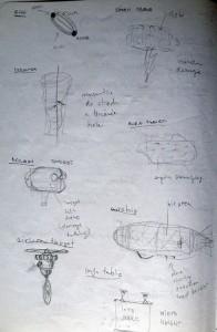 Design sketch of obstacles