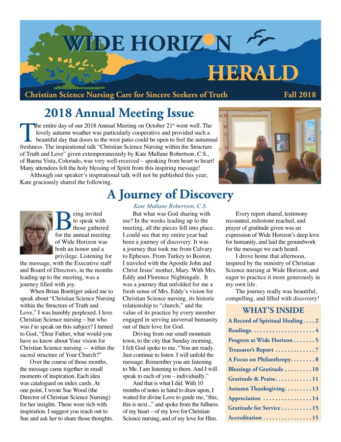 2018 Fall Wide Horizon Herald News