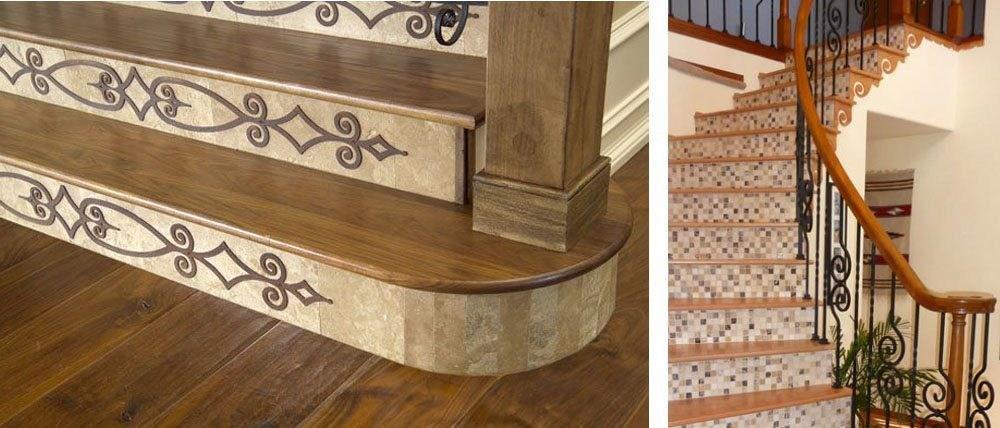 Design Ideas For Stairs To Match Your Custom Hardwood Floors | Wood Look Vinyl Stair Treads | Shaw Floors | Laminate Flooring | Roppe | Tile | Vinyl Flooring