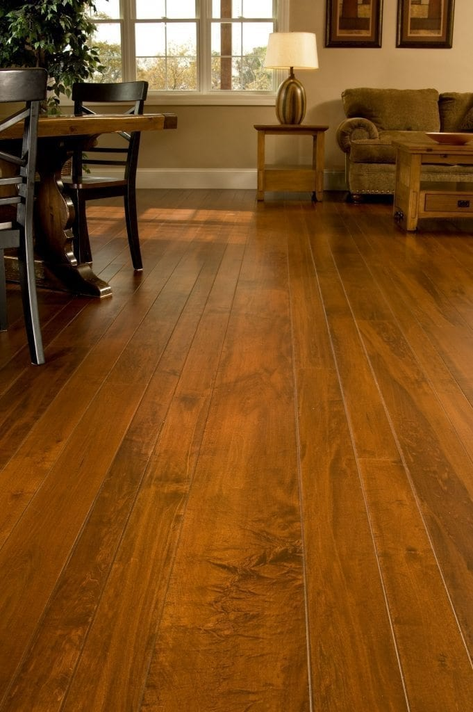 Brown Maple Hardwood Flooring Living Room  Carlisle Wide
