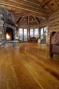 Cherry Solid Wood Floors in a Colorado Living Room
