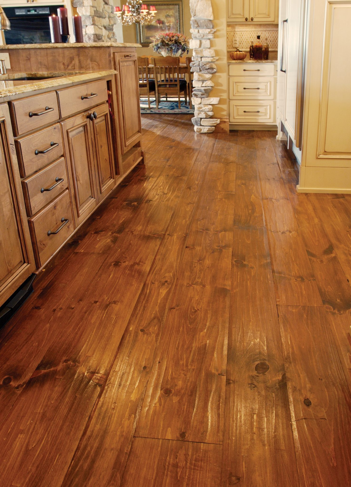 kitchen showrooms roll out cabinet eastern white pine flooring in a