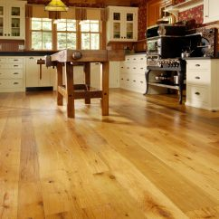 Kitchen Rugs For Hardwood Floors Grey Cabinet Ideas Reclaimed Oak In With Radiant Heat