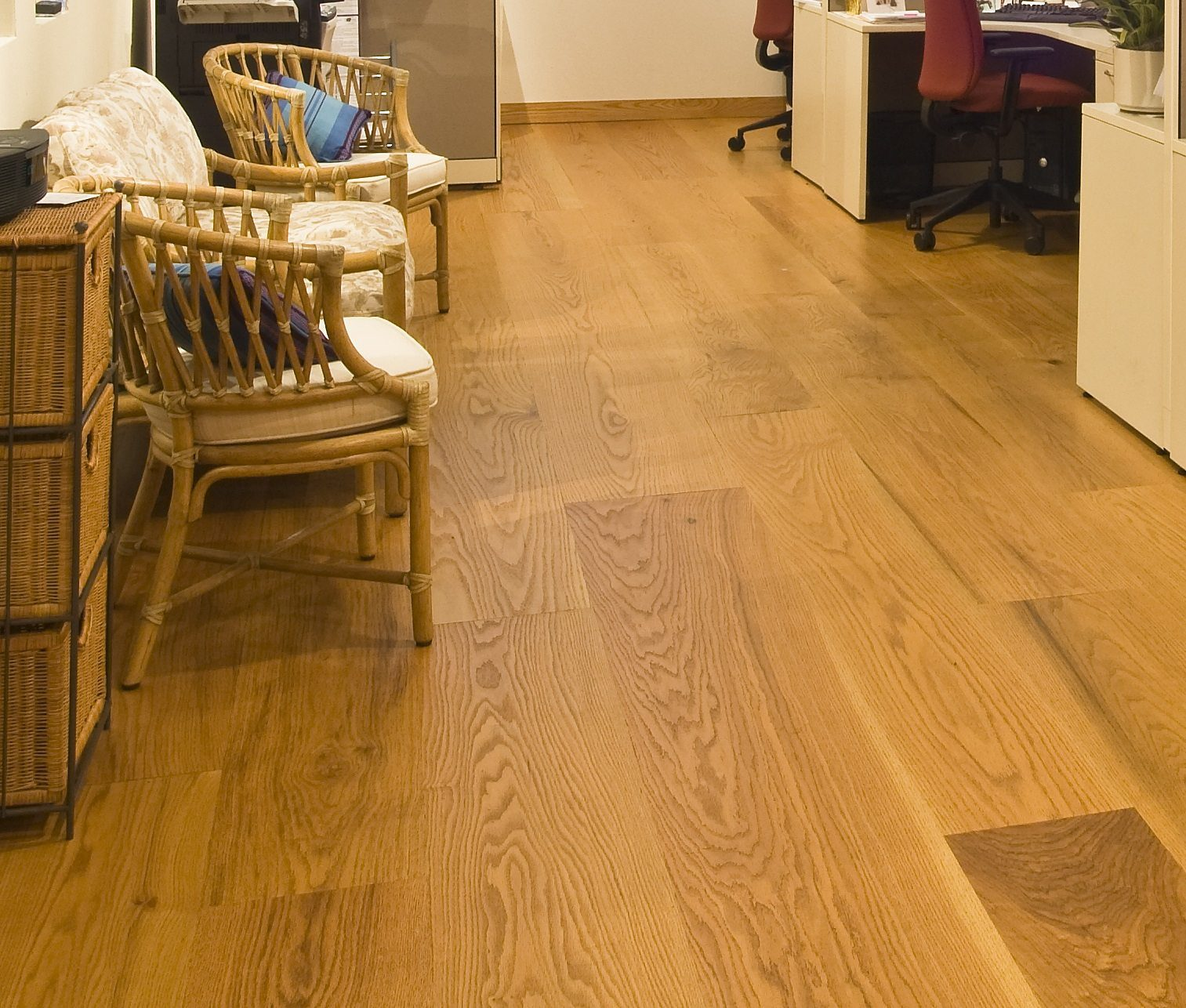Red Oak Flooring in a Home Office  Carlisle Wide Plank Floors