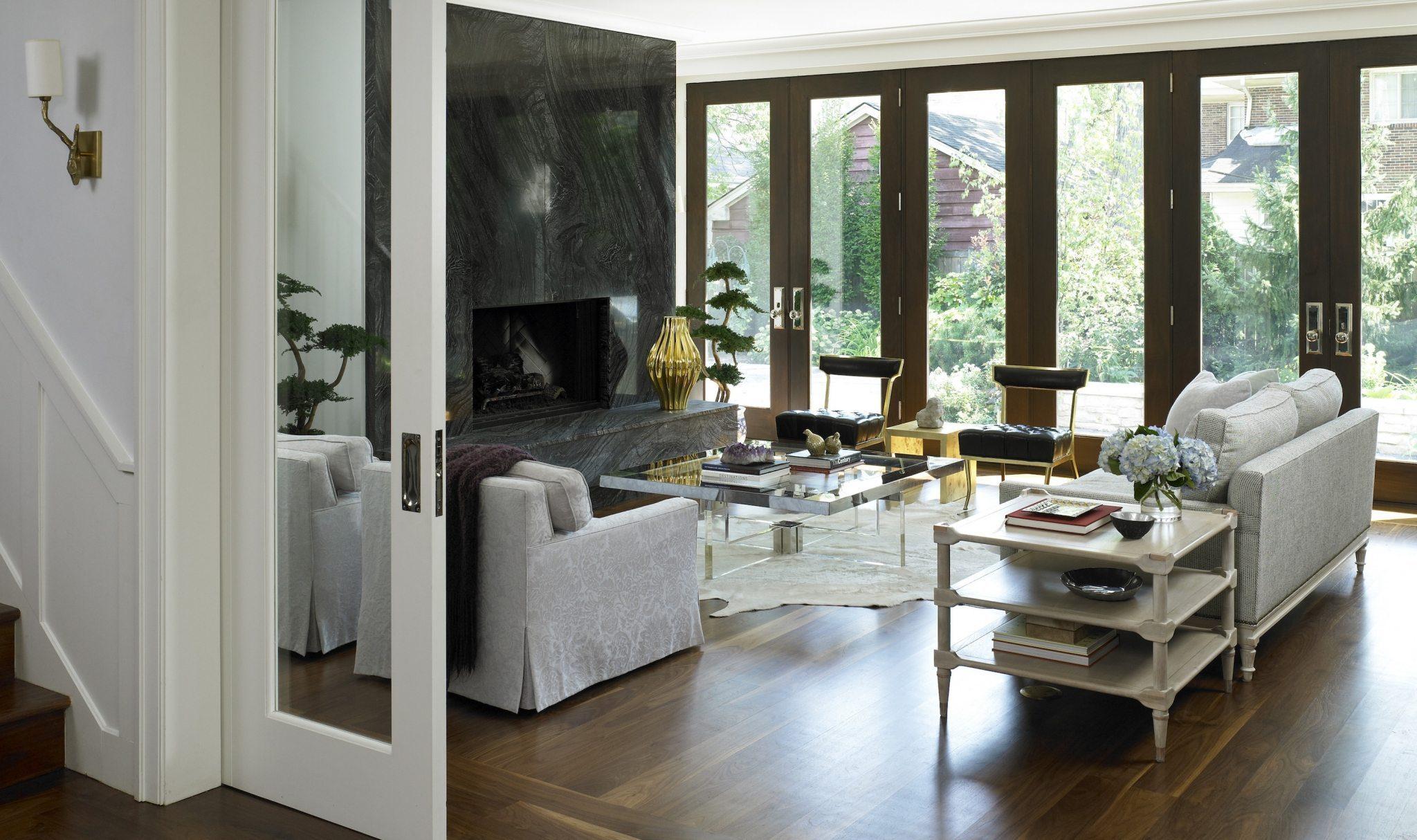 Walnut Flooring in a Trendsetting Living Room