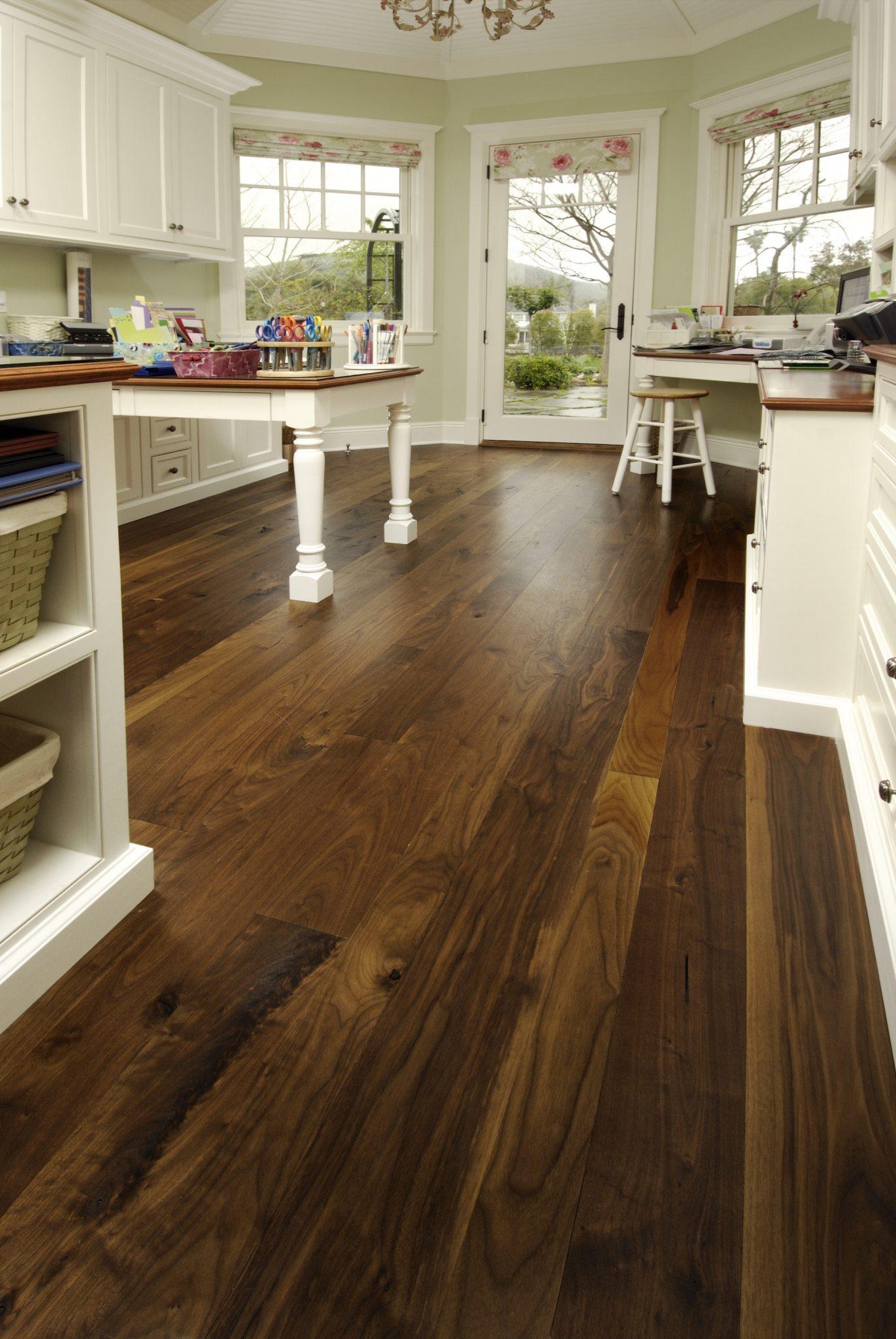 Walnut Flooring in a Craft Room  Carlisle Wide Plank Floors