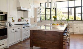 Walnut Flooring in a Transitional Kitchen