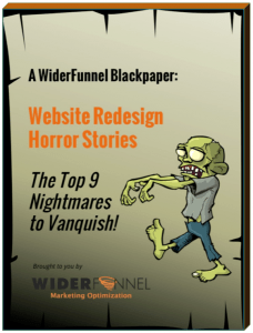 Website Redesign Horror Stories Nightmare black paper