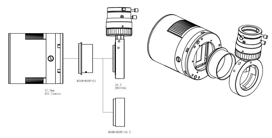 ZWO ASI2400MC Pro Cooled Full Frame One Shot Colour Deep