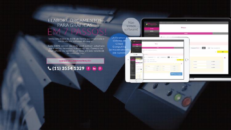 Criação do site Prezzo Graphic - Widesigner criação de web site